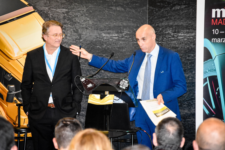 Jesús Figueroa (izqda.) y Chimo Ortega (Sobre Ruedas, Capital Radio)